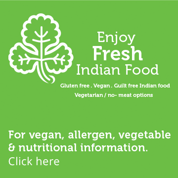 Enjoy Fresh Indian Food